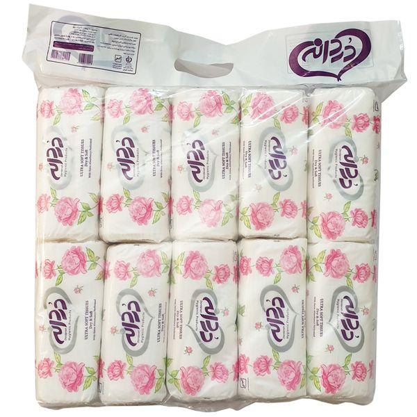 دستمال کاغذی 100 برگ دردانه مدل Ultra Soft بسته 10 عددی