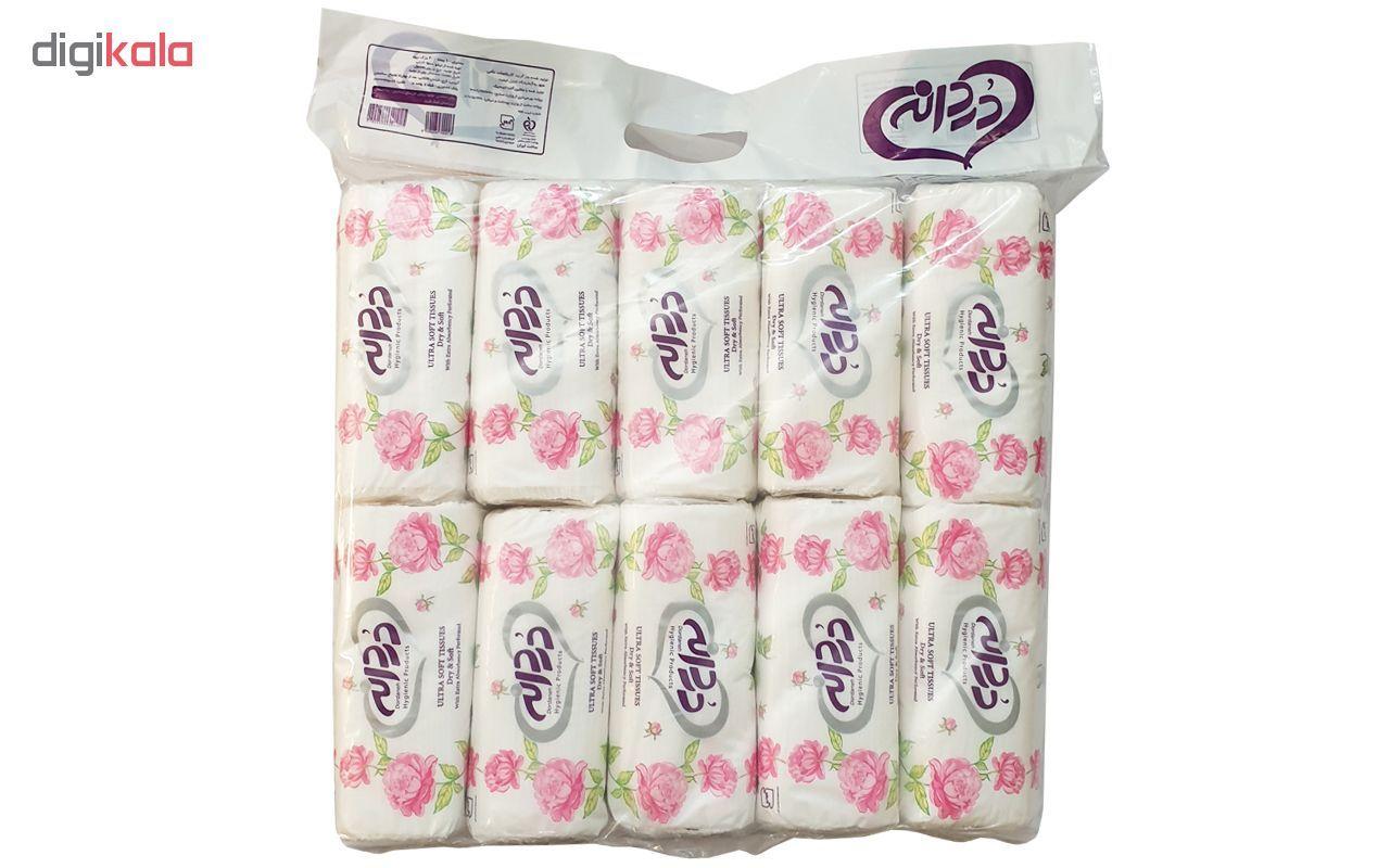 دستمال کاغذی 100 برگ دردانه مدل Ultra Soft بسته 10 عددی main 1 1