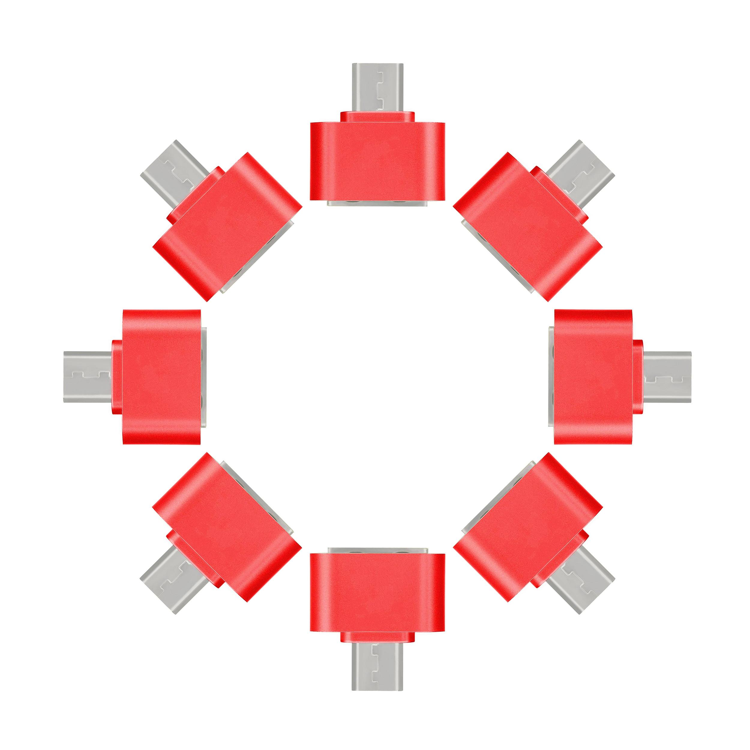 مبدل microUSB به USB مدل DST-O8 بسته 8 عددی