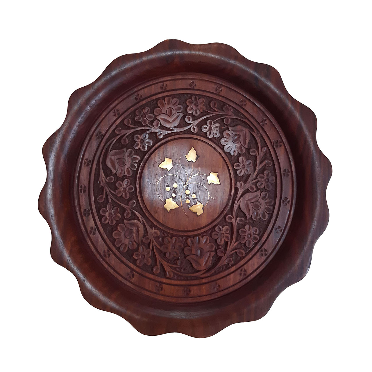 Handmade decorative wooden carving tray, HF-2502 MODEL