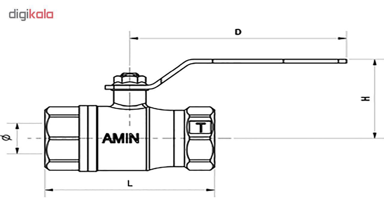 شیر گاز امین شیر مدل MOP5 سایز 1 اینچ