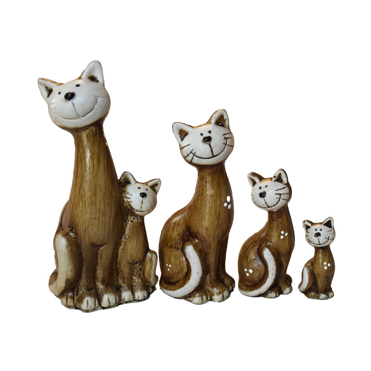 مجسمه طرح گربه مدل kimiya 24 مجموعه 4 عددی