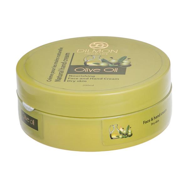 کرم مرطوب کننده دست و صورت دیلمون مدل Olive Oil حجم 200 میلی لیتر