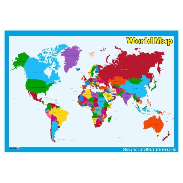 پوستر چاپ پارسیان طرح نقشه جهان مدل WORLDMAP 001