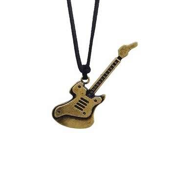 گردنبند مردانه طرح گیتار کد PE 1010