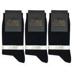 جوراب مردانه مشکی آریان نخ باف کد 51217 بسته 3 جفتی پنجه گیری شده thumb