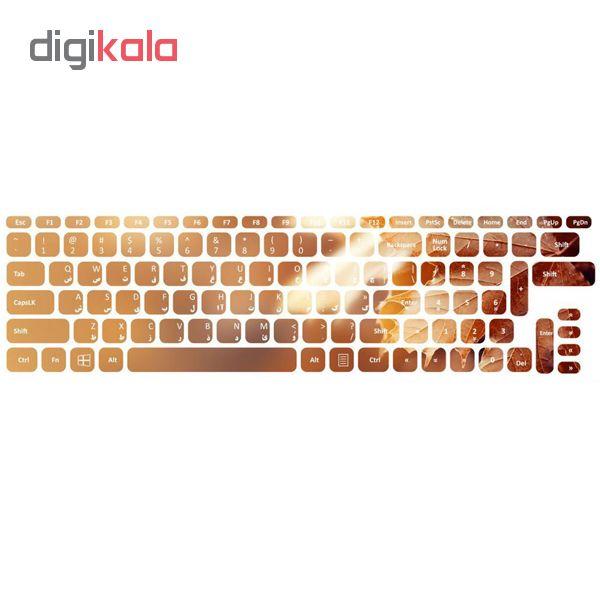 برچسب حروف فارسی کیبورد طرح پاییزان کد 03