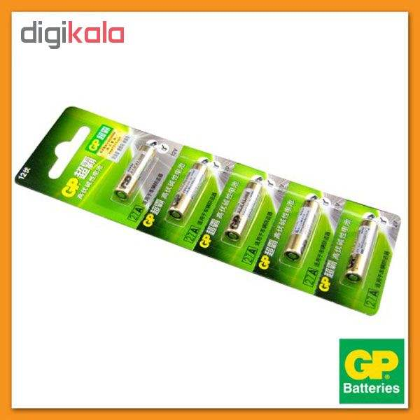 باتری 27A جی پی مدل Super Alkaline بسته 5 عددی main 1 2