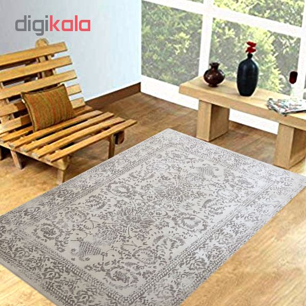 فرش ماشینی میلانو طرح وینتیج کد614 زمینه کرم