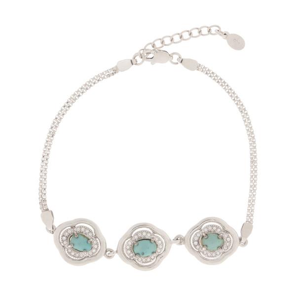 دستبند نقره زنانه کد 9810