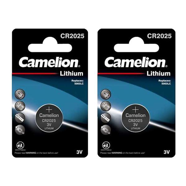 باتری سکه ای کملیون مدل CR2025 بسته 2 عددی