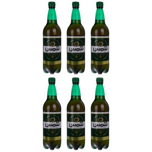 نوشیدنی مالت بدون الکل لیمو شمس مقدار 1 لیتر بسته 6 عددی