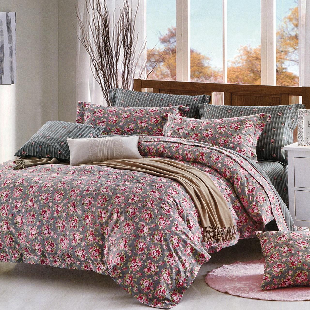 سرویس خواب کارینا کد 0039 مدل Flower B یک نفره چهار تکه