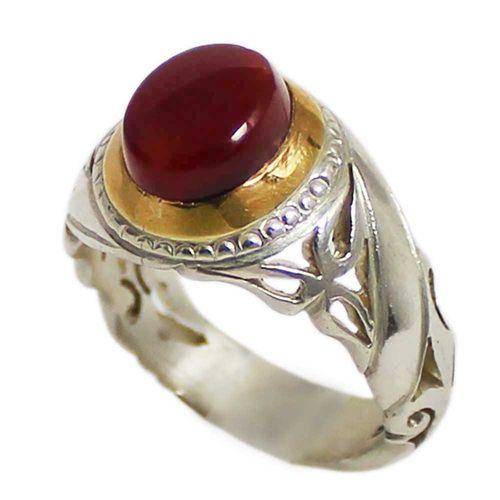 انگشتر نقره مردانه کد 1672