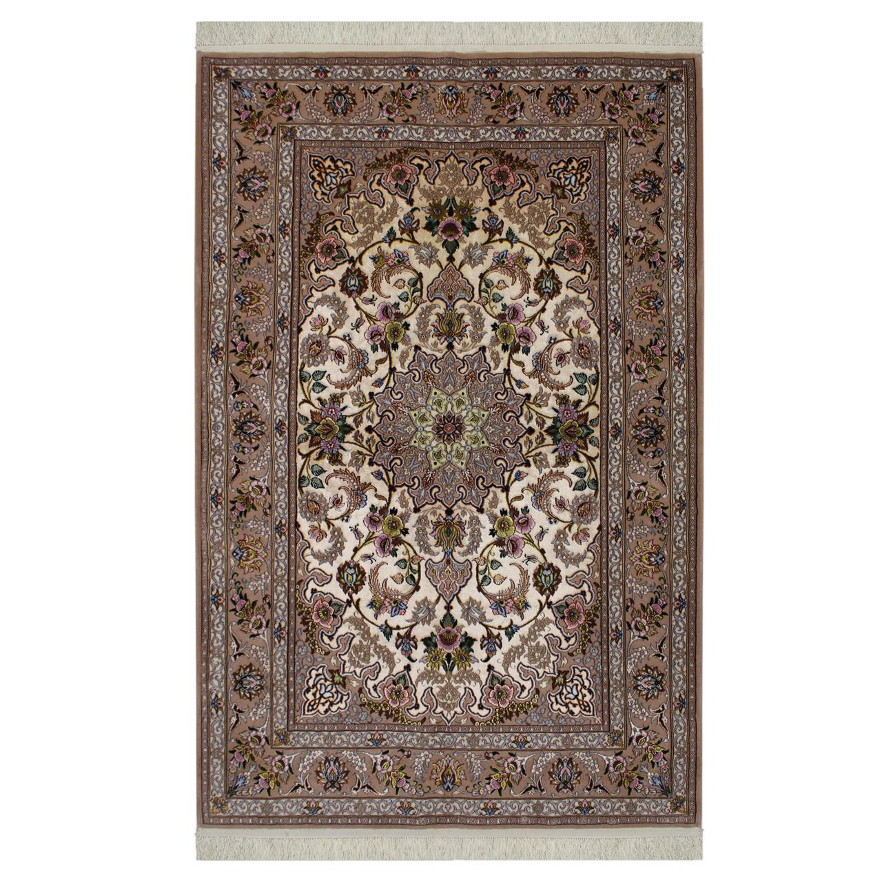 فرش  دستبافت  دو متری طرح اصفهان کد 1105701