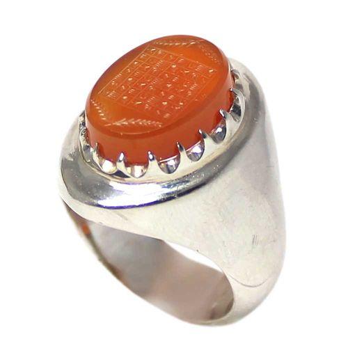 انگشتر نقره مردانه  کد 1676