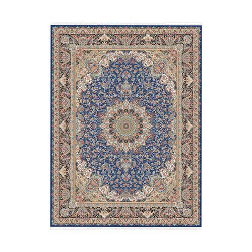 فرش ماشینی ستاره کویر یزد طرح هزار و یک شب زمینه آبی