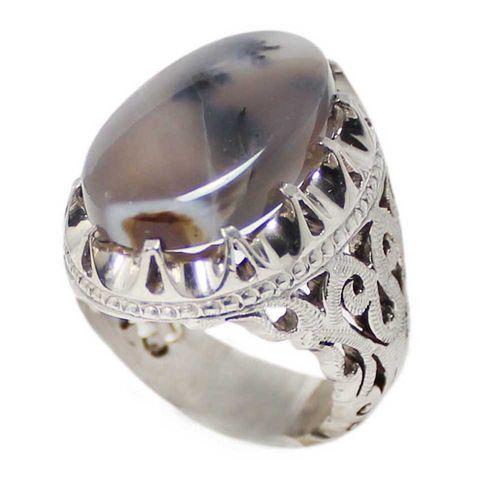 انگشتر نقره مردانه کد 1662