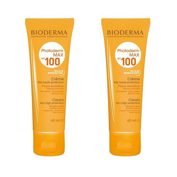 کرم ضد آفتاب بایودرما مدل Photoderm MAX حجم 40 میلی لیتر مجموعه 2 عددی