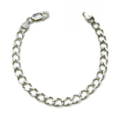 دستبند نقره مردانه کد 1
