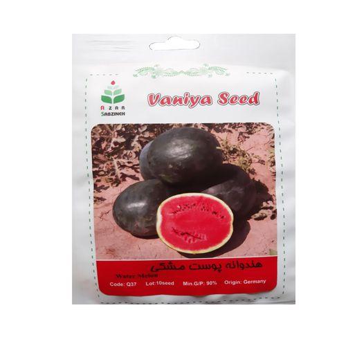 بذر هندوانه پوست مشکی آذر سبزینه مدل Q37
