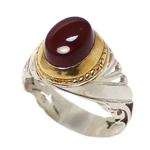 انگشتر  نقره مردانه کد 1694