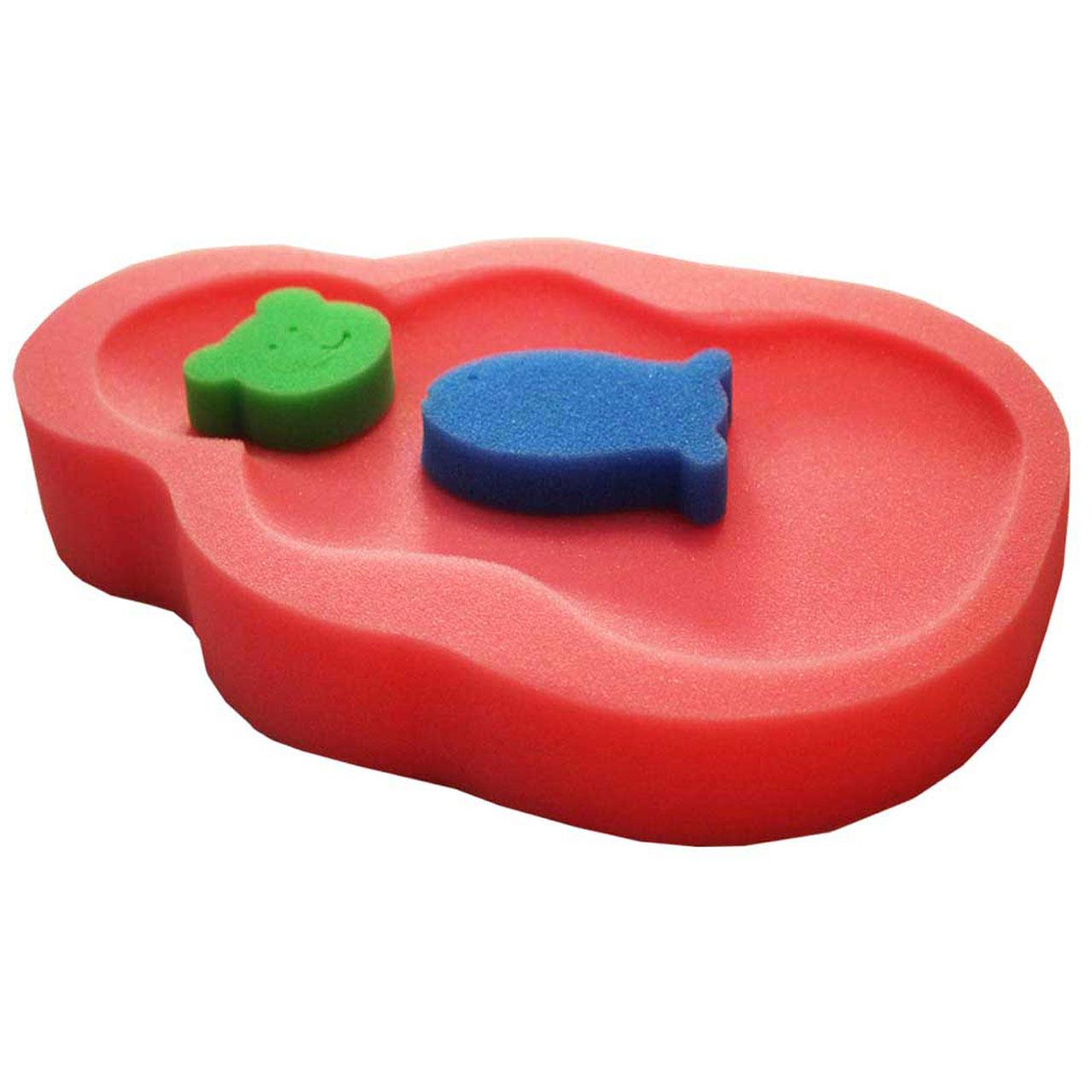 اسفنج وان حمام کودک بیبی جم مدل 3932P بسته 3 عددی