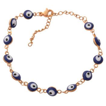 پابند زنانه طرح چشم نظر کد PA1093