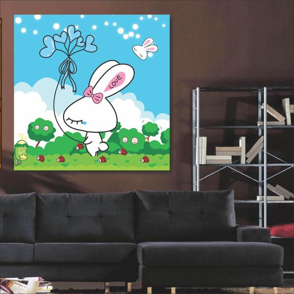 تابلو شاسی طرح خرگوش عشق 3 مدل TA-1018