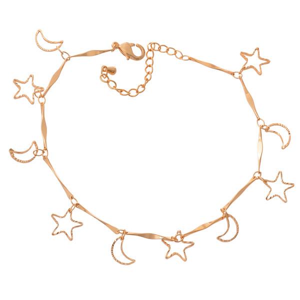 پابند زنانه طرح ماه و ستاره کد PA1102