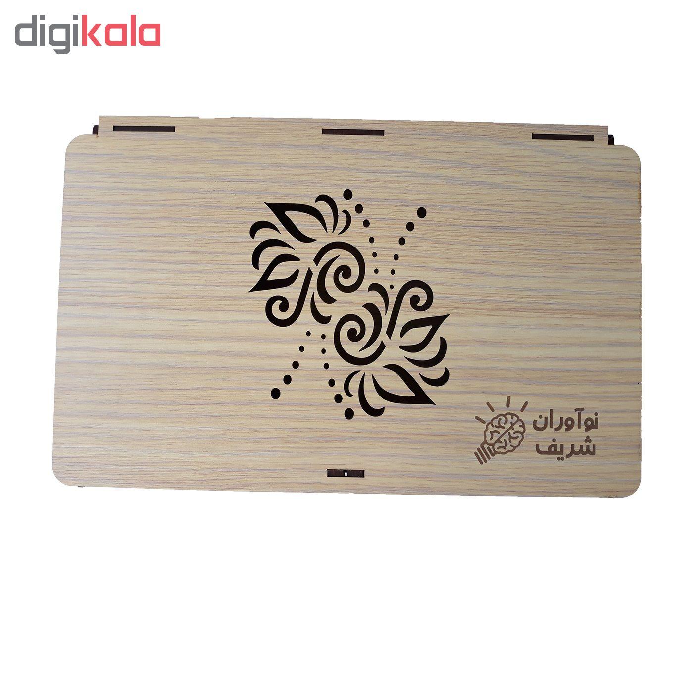 خرید                      جعبه هدیه چوبی نوآوران شریف کد MS01