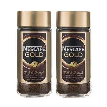 قهوه فوری نسکافه گلد مقدار 100 گرم بسته دو عددی