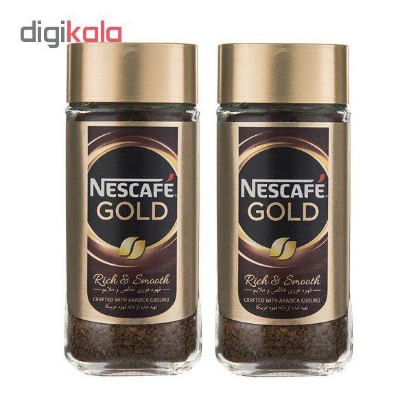 قهوه فوری نسکافه گلد مقدار 100 گرم بسته دو عددی main 1 1