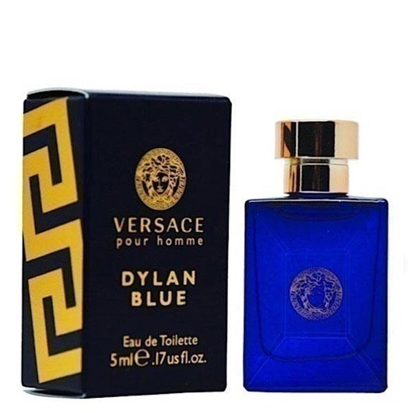 عطر جیبی مردانه ورساچه مدل Pour Homme Dylan Blue حجم 5 میلی لیتر