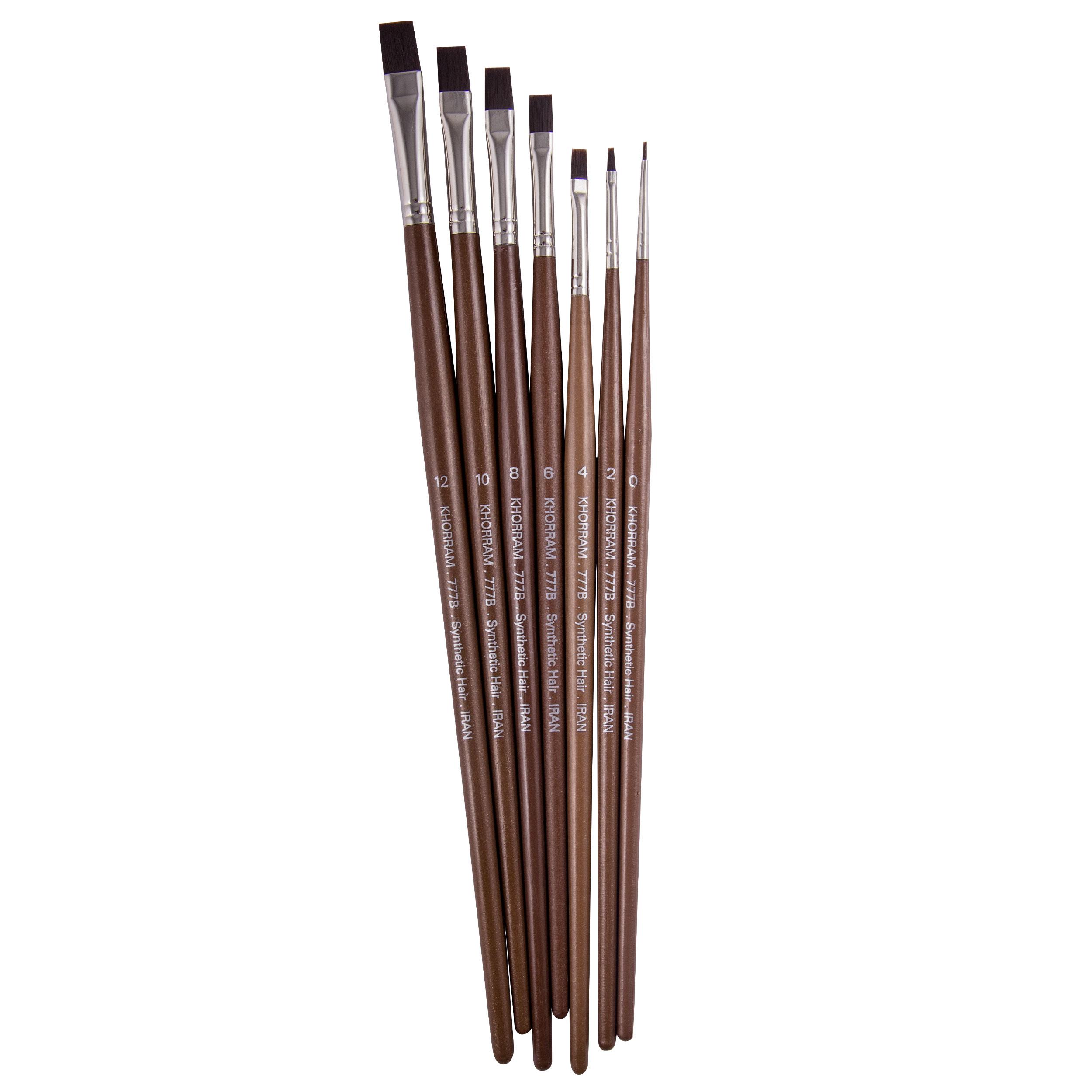 قلم مو تخت خرم مدل khp بسته 7 عددی
