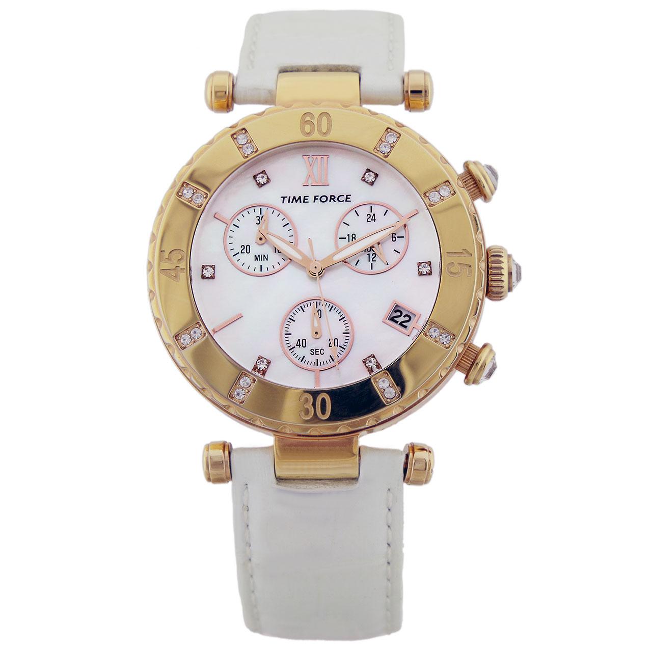 ساعت مچی عقربه ای زنانه تایم فورس مدل TF3384L11