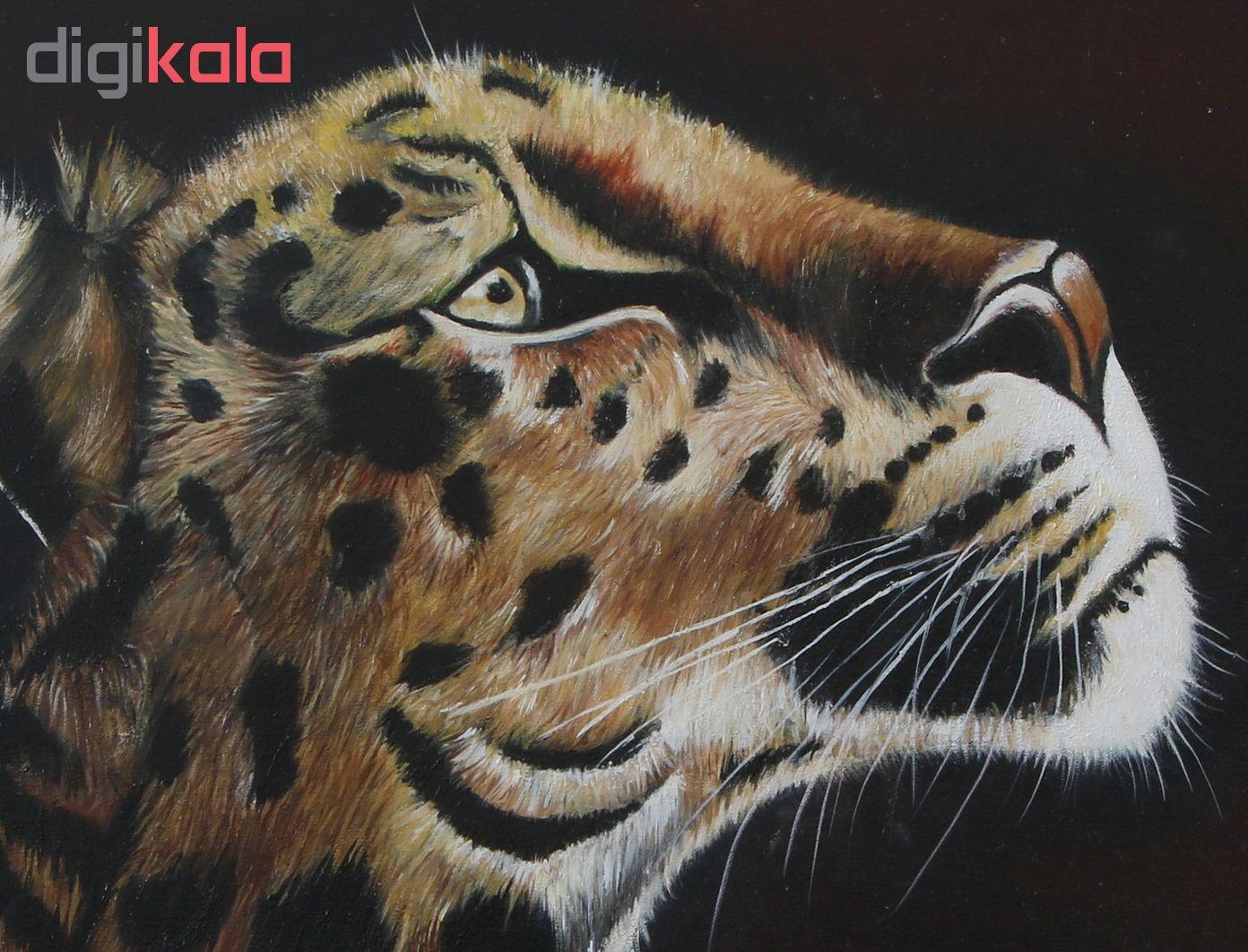 خرید                      تابلوی نقاشی رنگ و روغن طرح پلنگ کد 004