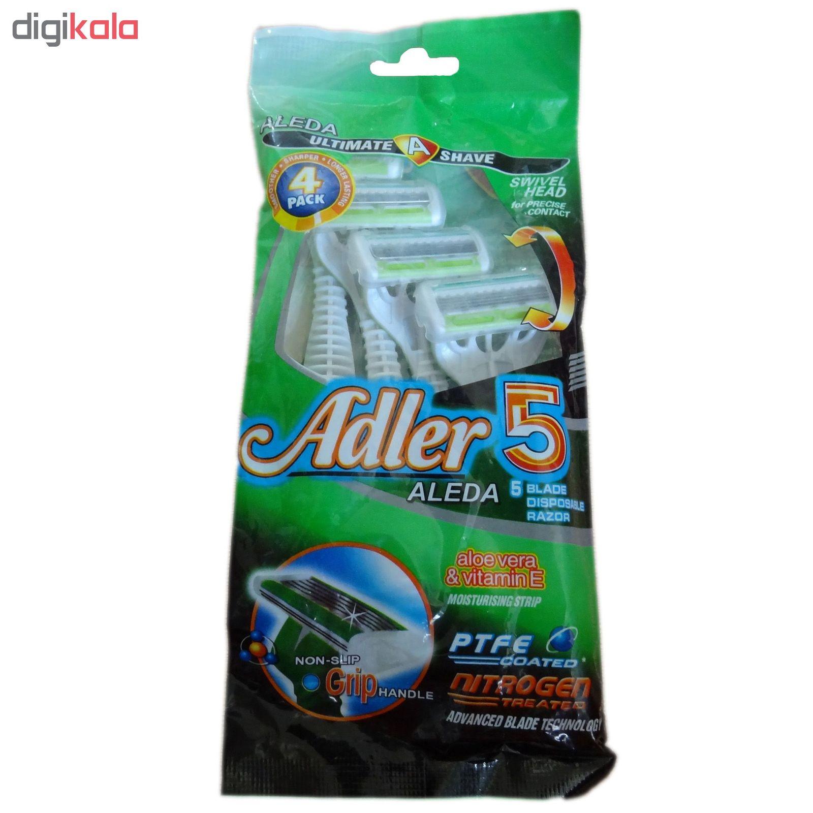 خود تراش ژیلت مدل 5 Adler Aleda بسته 4 عددی main 1 1