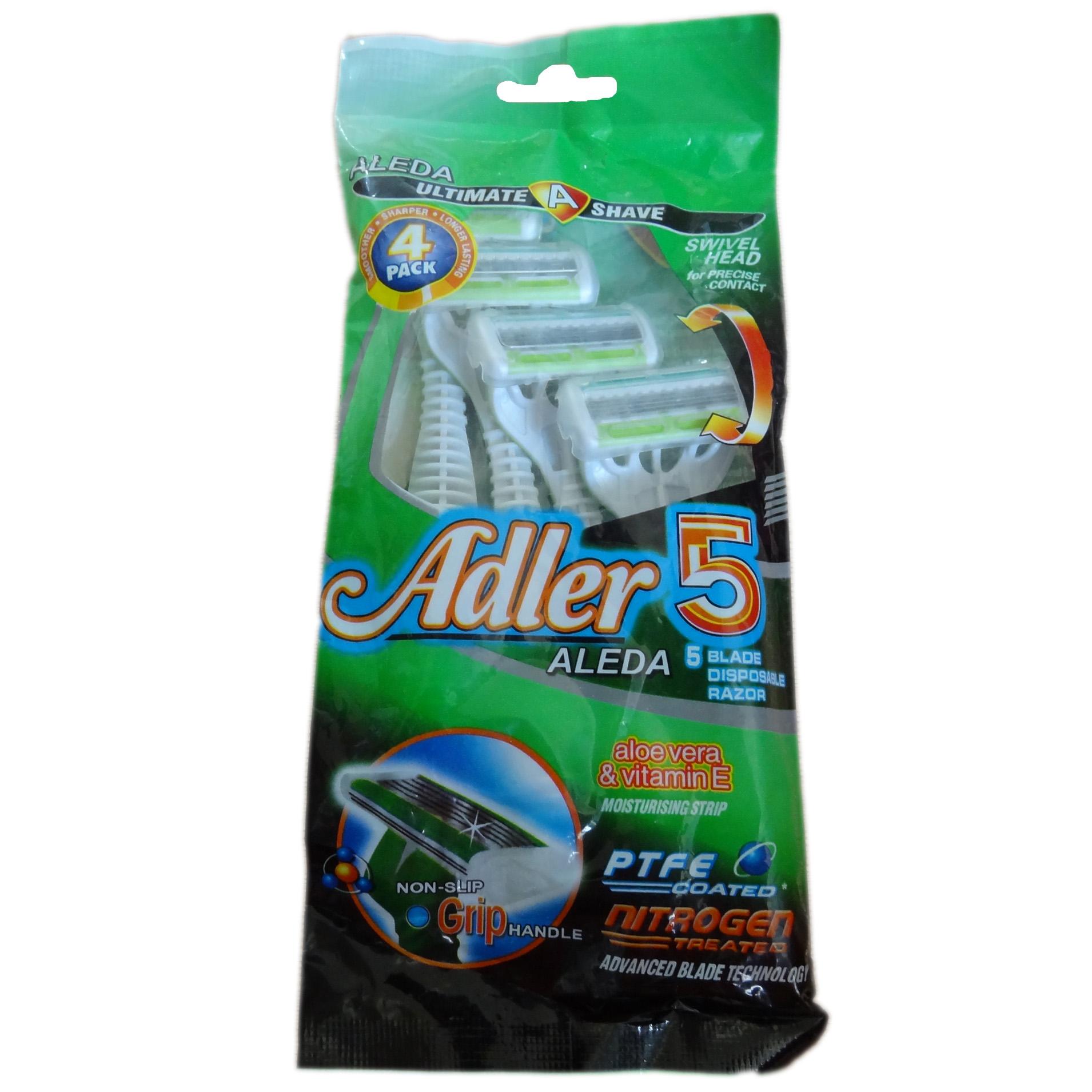 خود تراش ژیلت مدل 5 Adler Aleda بسته 4 عددی