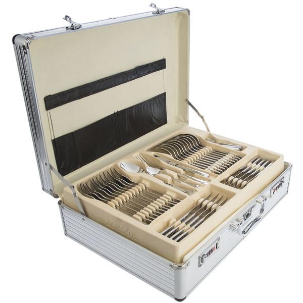 سرویس 138 پارچه قاشق و چنگال کارل اشمیت مدل A Berlin طرح جعبه آلومینیومی