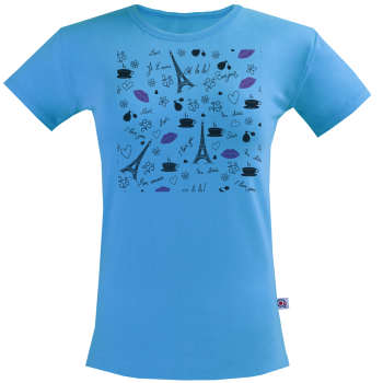 تی شرت زنانه آکو طرح  Fancy france کد NZa0016  
