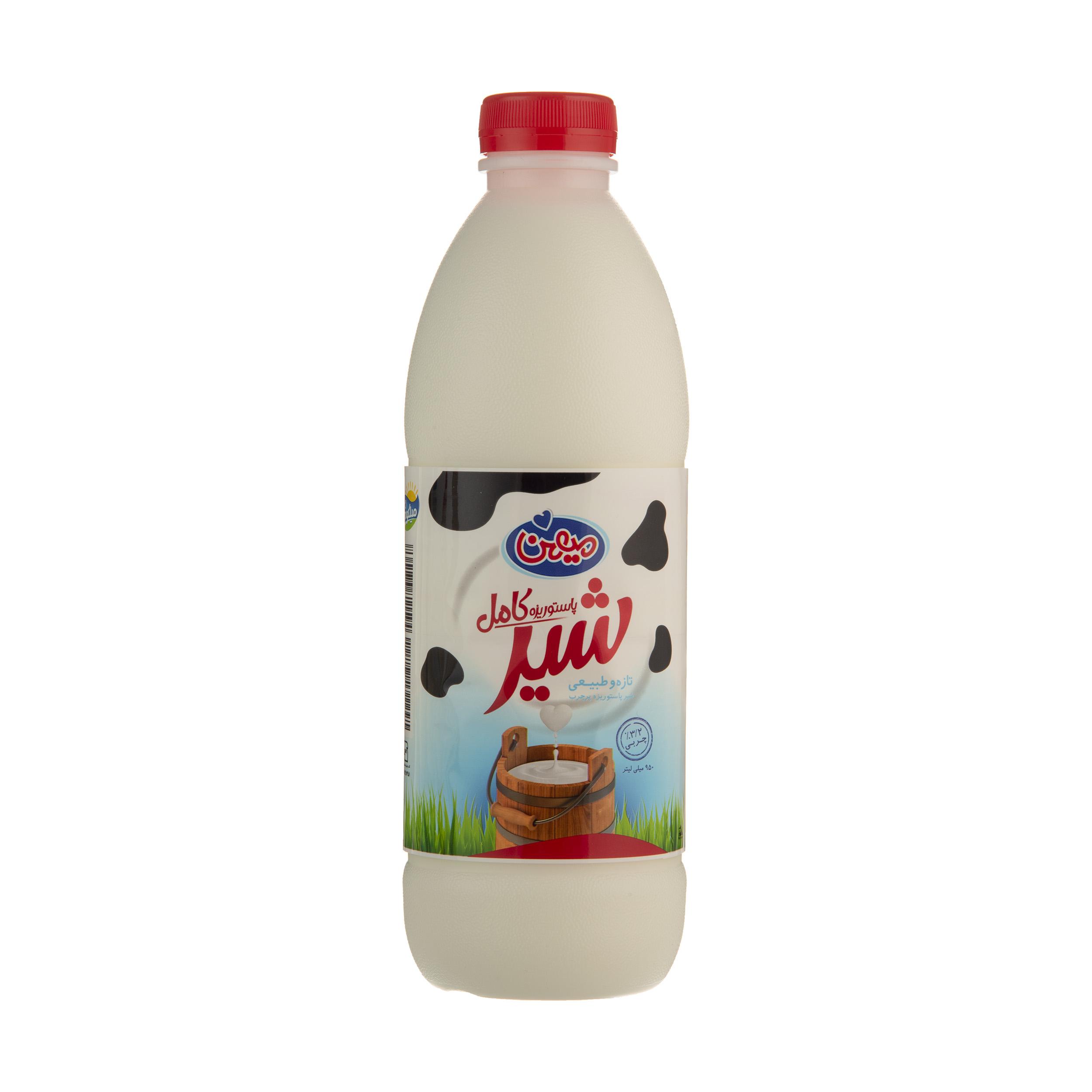 شیر کامل میهن حجم 950 میلی لیتر