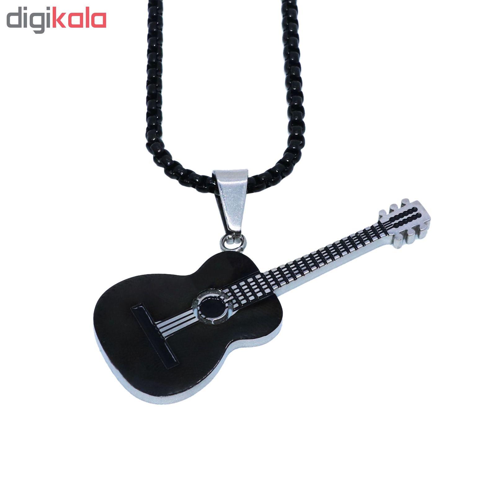 گردنبند مردانه طرح گیتار کد g900 main 1 1
