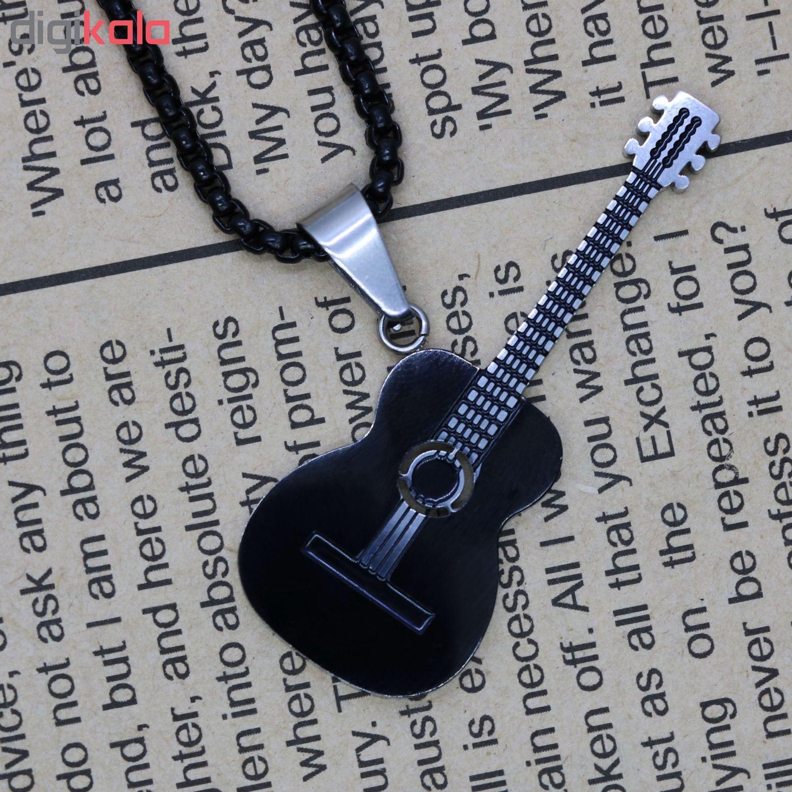 گردنبند مردانه طرح گیتار کد g900 main 1 2