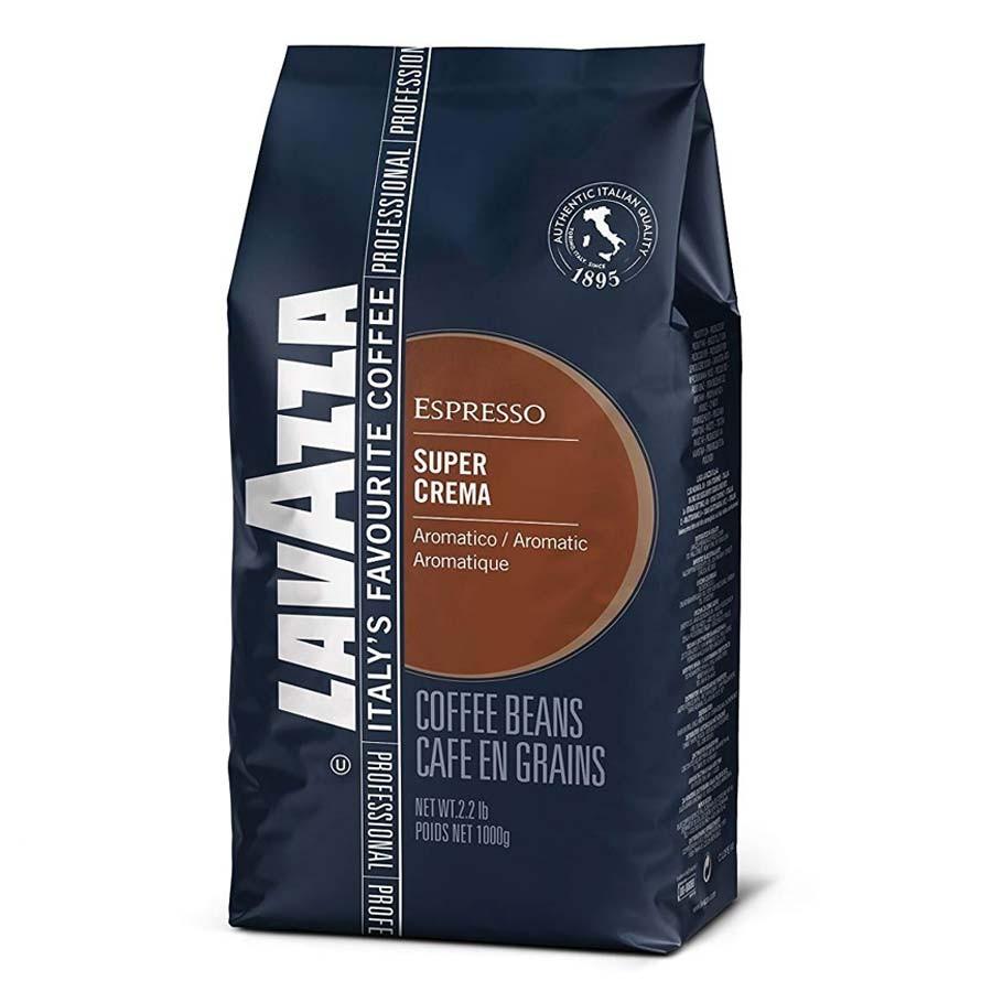 قهوه دانه لاواتزا مدل super crema مقدار 1 کیلوگرم
