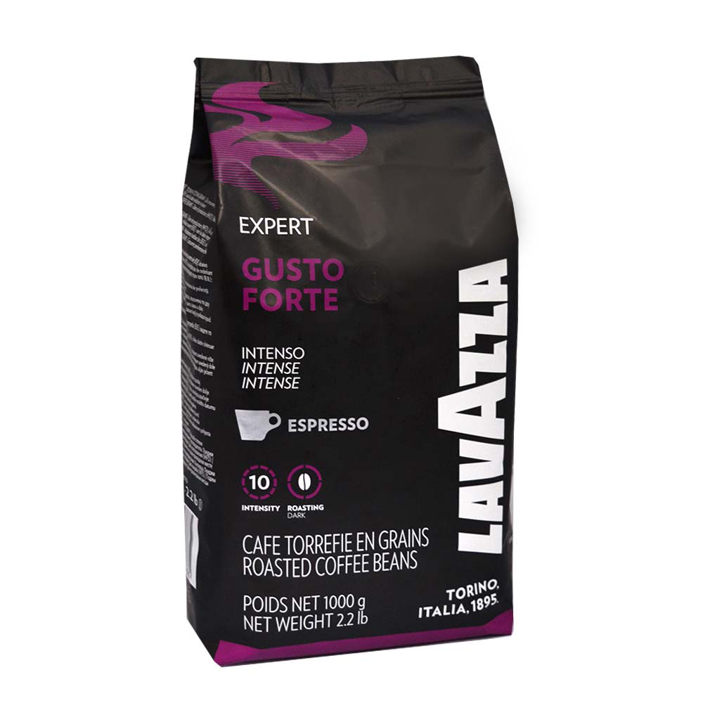 قهوه دان لاواتزا مدل gusto forte مقدار 1 کیلو گرم