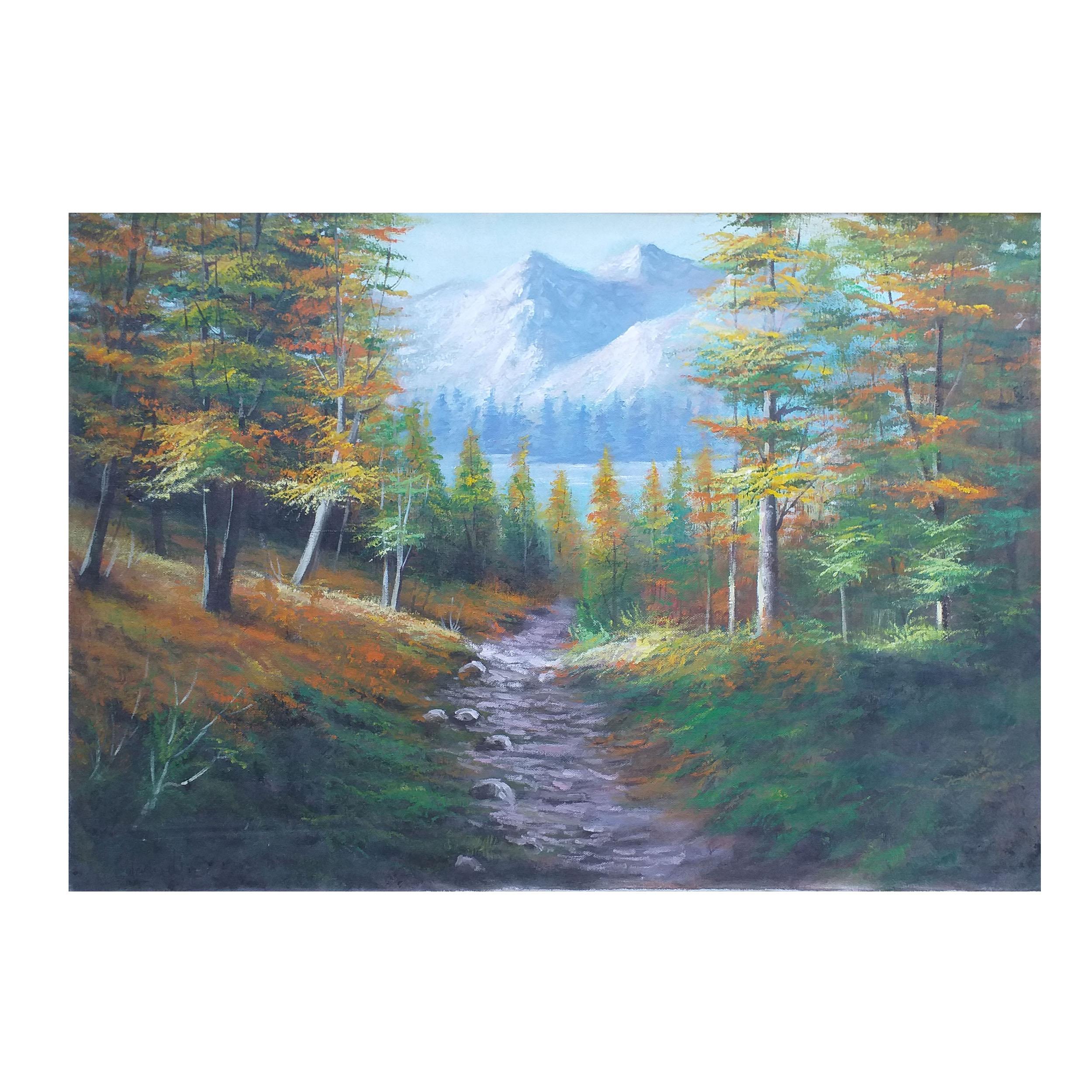 خرید                      تابلو نقاشی رنگ روغن طرح منظره کد 0028