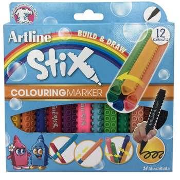 ماژیک نقاشی 12 رنگ آرت لاین سری استیکس مدل colouring marker