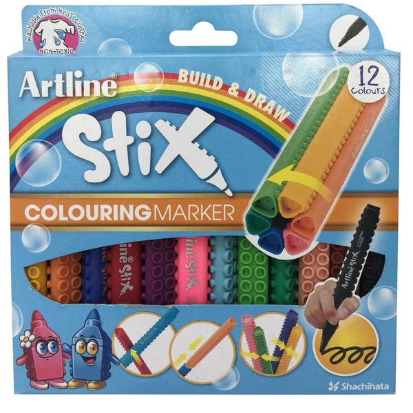 ماژیک 12 رنگ آرت لاین مدل colouring marker