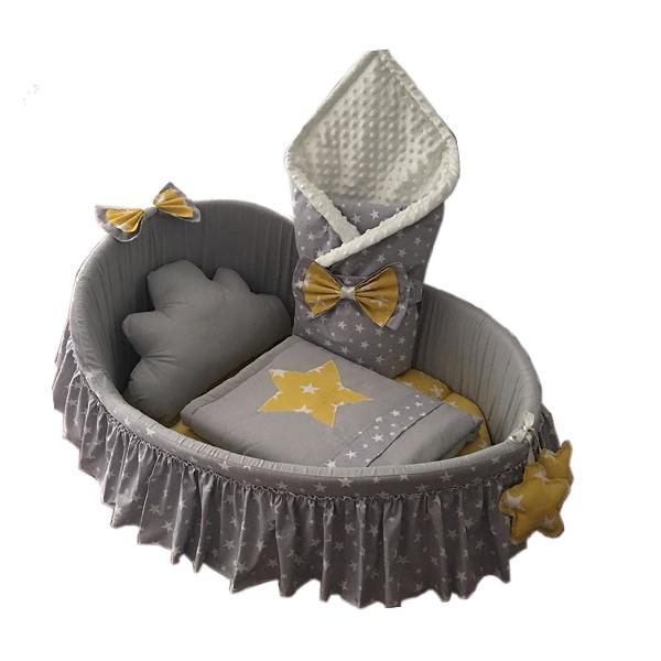 سرویس خواب ۶ تکه نوزاد طرح ستاره کد ۹۸۰۰۲۶